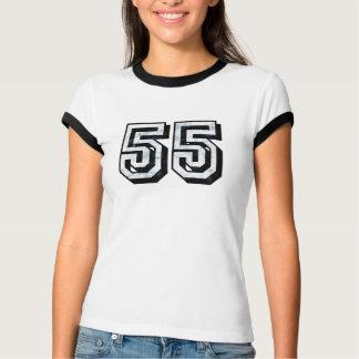 L'indigo 55K de rage a affligé le T-shirt dégrossi