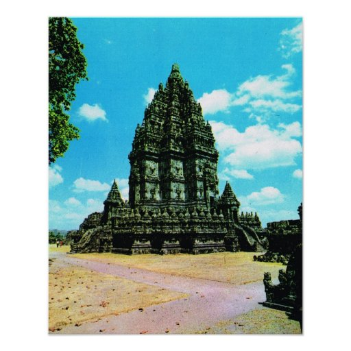 L'Indonésie vintage, Java, temple hindou de Pramba Posters