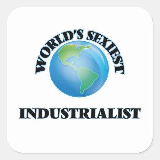 L'industriel le plus sexy du monde sticker carré