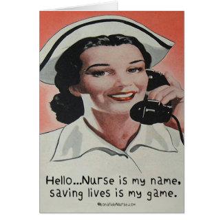L'infirmière est mon nom carte de vœux