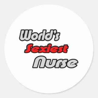 L'infirmière la plus sexy du monde sticker rond