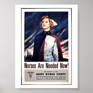 L'infirmière sont nécessaires maintenant ! posters
