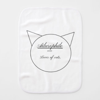 Linge De Bébé Ailurophile, forme simple de chat