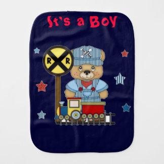 Linge De Bébé C'est un train d'ours de nounours de garçon
