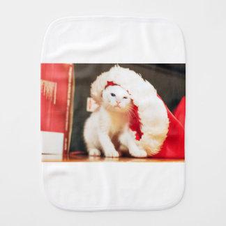 Linge De Bébé Chat de Noël blanc