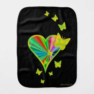 Linge De Bébé Coeur et papillon d'arc-en-ciel