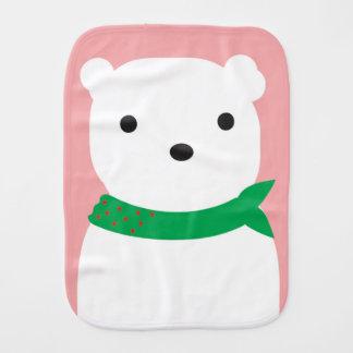 Linge de bébé de bébé d'ours blanc