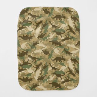 Linge de bébé de dinosaure de camouflage