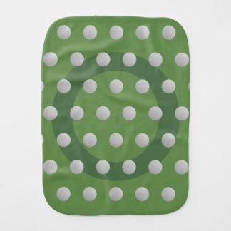 Linge de bébé de vert de mousse de motif de