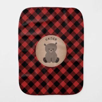 Linge de bébé d'ours de bébé de plaid de Buffalo