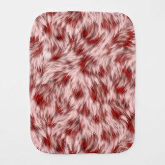 Linge De Bébé Faux motif rose et rouge de fourrure de léopard