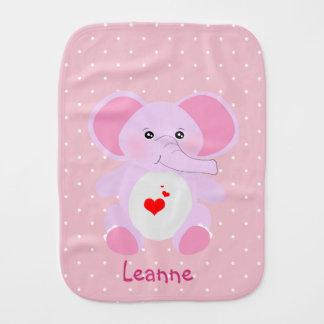 Linge De Bébé Fille blanche rose mignonne d'éléphant de bébé de