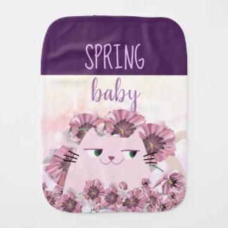 Linge De Bébé Fleur pourpre florale Boho de bébé mignon de