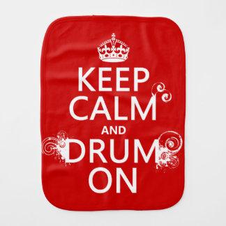 Linge De Bébé Gardez le calme et battez du tambour sur (toute