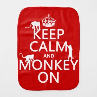 Linge De Bébé Gardez le calme et le singe dessus - toutes les
