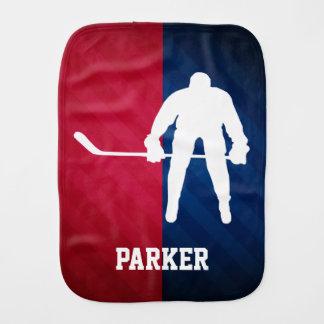 Linge De Bébé Joueur de hockey ; Rouge, blanc, et bleu