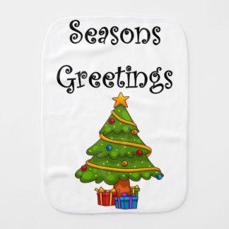 Linge De Bébé Joyeuses Fêtes d'arbre de Noël
