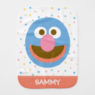 Linge De Bébé Le bébé grand Face  de Grover ajoutent votre nom
