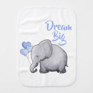 Linge De Bébé Le bleu mignon de grand bébé rêveur monte en