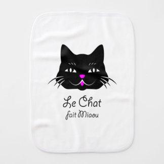 Linge De Bébé Le chat français mignon indique le Meow !