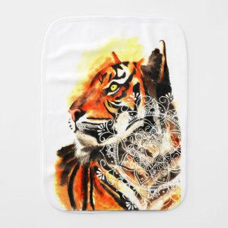 Linge De Bébé Mandala de tigre d'aquarelle