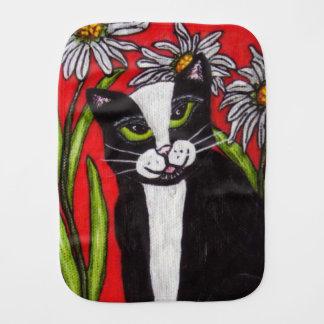 Linge De Bébé Marguerites de chat de smoking d'art populaire