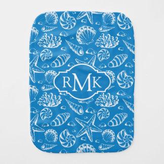 Linge De Bébé Monogramme bleu du motif | de plage