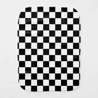 Linge De Bébé Motif checkered noir et blanc
