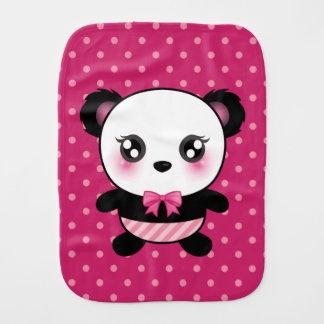 Linge De Bébé Motif de pois mignon de rose d'ours panda de bébé