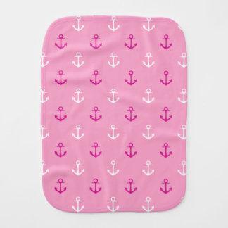 Linge De Bébé Motif nautique de rose et blanc d'ancres