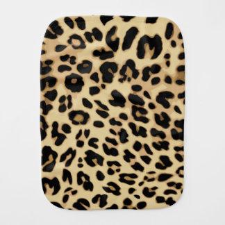 Linge De Bébé Noir/or de poster de animal de motif de léopard