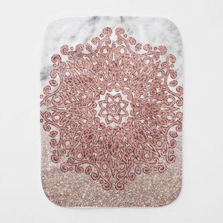Linge De Bébé Ombre rose de parties scintillantes de marbre de
