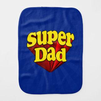 Linge De Bébé Papa superbe, super héros rouge/jaune/fête des