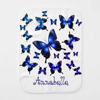 Linge De Bébé Papillons lunatiques élégants de bleu royal