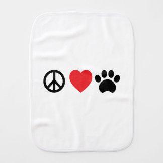 Linge De Bébé Patte d'amour de paix