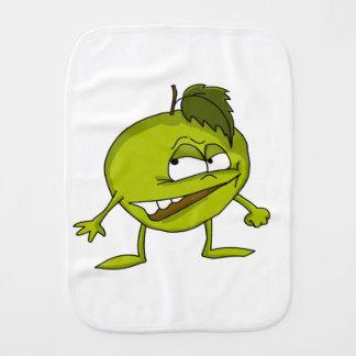 Linge De Bébé Personnage de dessin animé vert de pomme avec un