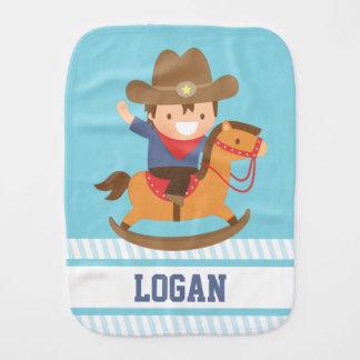 Linge De Bébé Petit cowboy mignon sur des bébés de cheval de