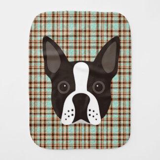 Linge De Bébé Plaid de tartan de chiot de Boston Terrier