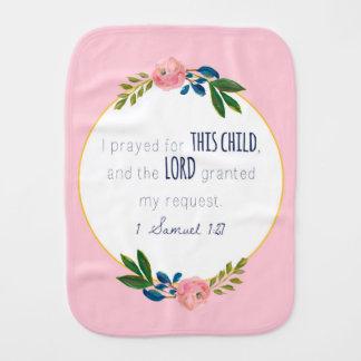 Linge De Bébé Pour cet enfant j'ai prié