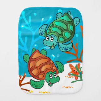Linge De Bébé Rot mignon de bébé d'océan de tortue