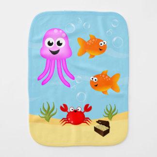 Linge De Bébé Sous la mer, caractères d'amusement