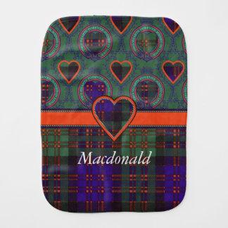 Linge De Bébé Tartan d'écossais de plaid de clan de Macdonald