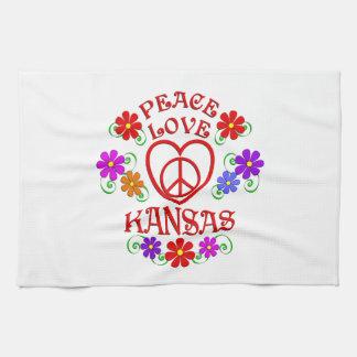 Linge De Cuisine Amour le Kansas de paix