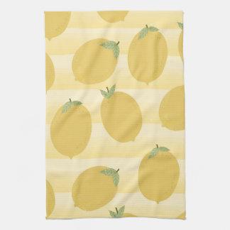 Linge De Cuisine Amusement jaune d'aquarelle de fruit d'été de