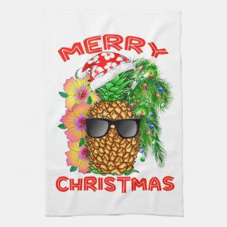 Linge De Cuisine Ananas de Père Noël de Joyeux Noël