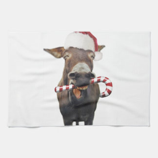 Linge De Cuisine Âne de Noël - âne de père Noël - âne père Noël