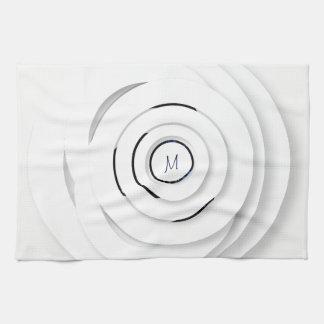 Linge De Cuisine Anneaux blancs de recouvrement - faux 3D -