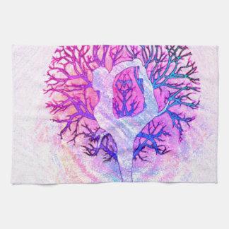 Linge De Cuisine Arc-en-ciel de pastel d'arbre de yoga