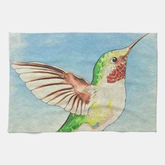 Linge De Cuisine Art de bleu de colibri
