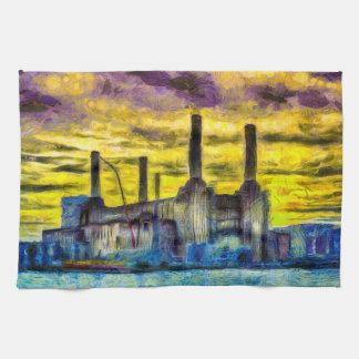 Linge De Cuisine Art de coucher du soleil de centrale de Battersea